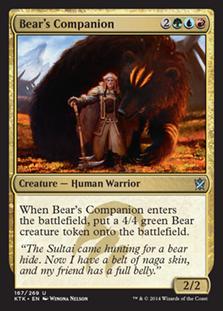 Bear's Companion Magic Card