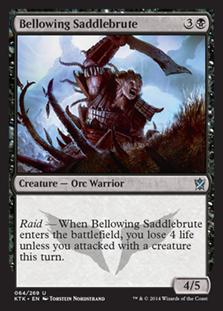 Bellowing Saddlebrute Magic Card