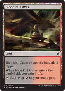 Bloodfell Caves Magic Card