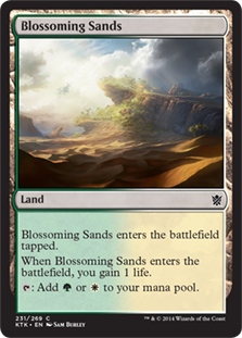 Blossoming Sands Magic Card