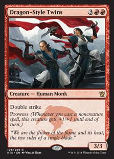 Dragon-Style Twins Magic Card