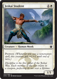 Jeskai Student Magic Card
