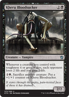 Kheru Bloodsucker Magic Card