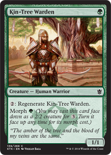 Kin-Tree Warden Magic Card