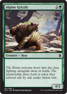 Alpine Grizzly Magic Card
