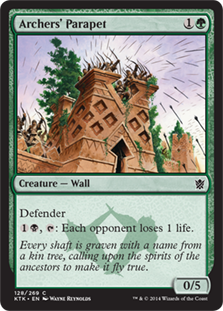Archers' Parapet Magic Card