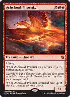 Ashcloud Phoenix Magic Card