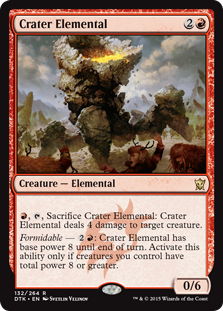Crater Elemental Magic Card