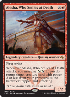 Alesha, Who Smiles at Death Magic Card