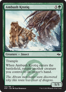 Ambush Krotiq Magic Card