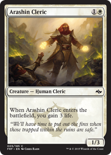 Arashin Cleric Magic Card