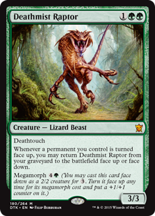 Deathmist Raptor Magic Card