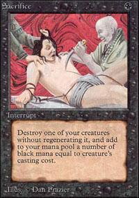 Sacrifice Magic Card