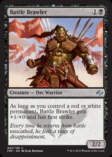 Battle Brawler Magic Card