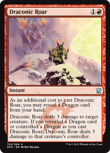 Draconic Roar Magic Card