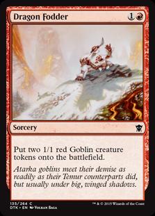 Dragon Fodder Magic Card