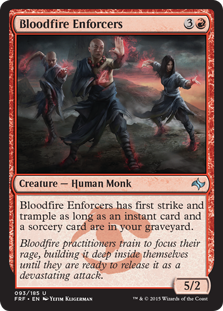 Bloodfire Enforcers Magic Card