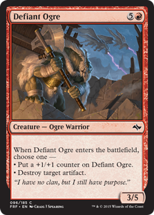 Defiant Ogre Magic Card