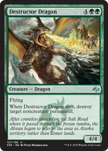 Destructor Dragon Magic Card