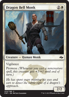 Dragon Bell Monk Magic Card