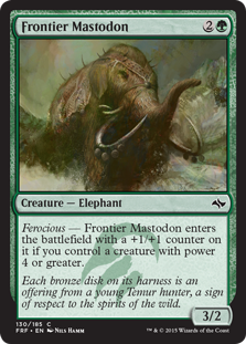 Frontier Mastodon Magic Card