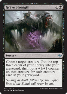 Grave Strength Magic Card