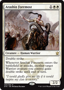 Arashin Foremost Magic Card