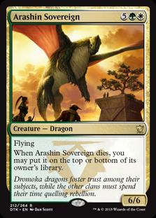 Arashin Sovereign Magic Card