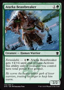 Atarka Beastbreaker Magic Card
