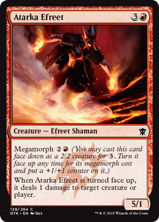 Atarka Efreet Magic Card