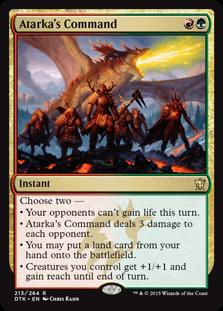 Atarka's Command Magic Card