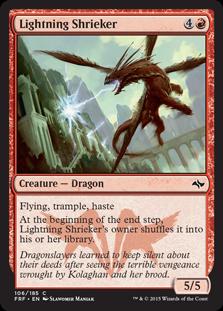 Lightning Shrieker Magic Card
