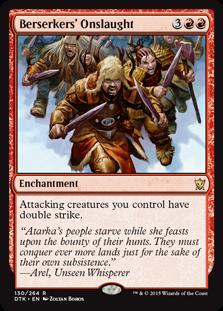 Berserkers' Onslaught Magic Card