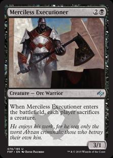 Merciless Executioner Magic Card