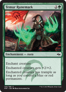 Temur Runemark Magic Card
