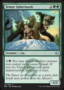 Temur Sabertooth Magic Card