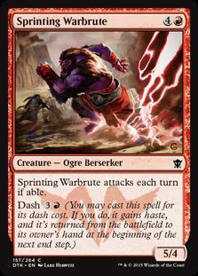 Sprinting Warbrute Magic Card