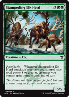 Stampeding Elk Herd Magic Card
