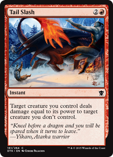 Tail Slash Magic Card