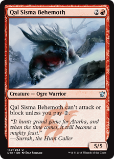 Qal Sisma Behemoth Magic Card