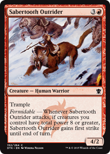 Sabertooth Outrider Magic Card