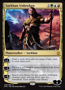 Sarkhan Unbroken Magic Card