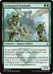 Scaleguard Sentinels Magic Card