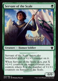 Servant of the Scale Magic Card