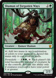 Shaman of Forgotten Ways Magic Card