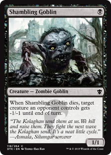 Shambling Goblin Magic Card