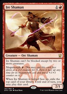 Ire Shaman Magic Card