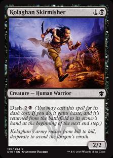 Kolaghan Skirmisher Magic Card