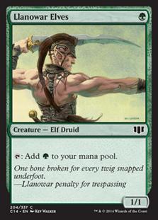 Llanowar Elves Magic Card