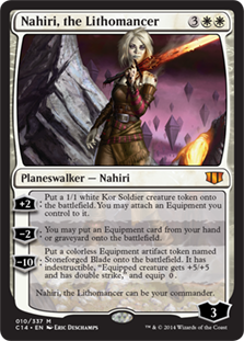 Nahiri, the Lithomancer Magic Card